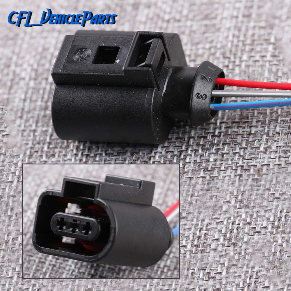Camshaft Cam Sensor 3 Pin Wire Connector Plug Harness 1J0973703 3D0973703 For VW Passat Golf Jetta For Audi A3 A4