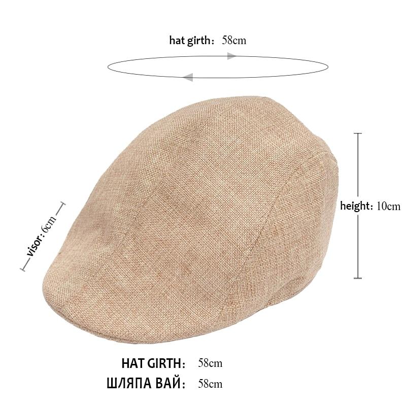 VORON nuevo verano boina hombres diseño lino sombrero mujer otoño e - Accesorios para la ropa - foto 6