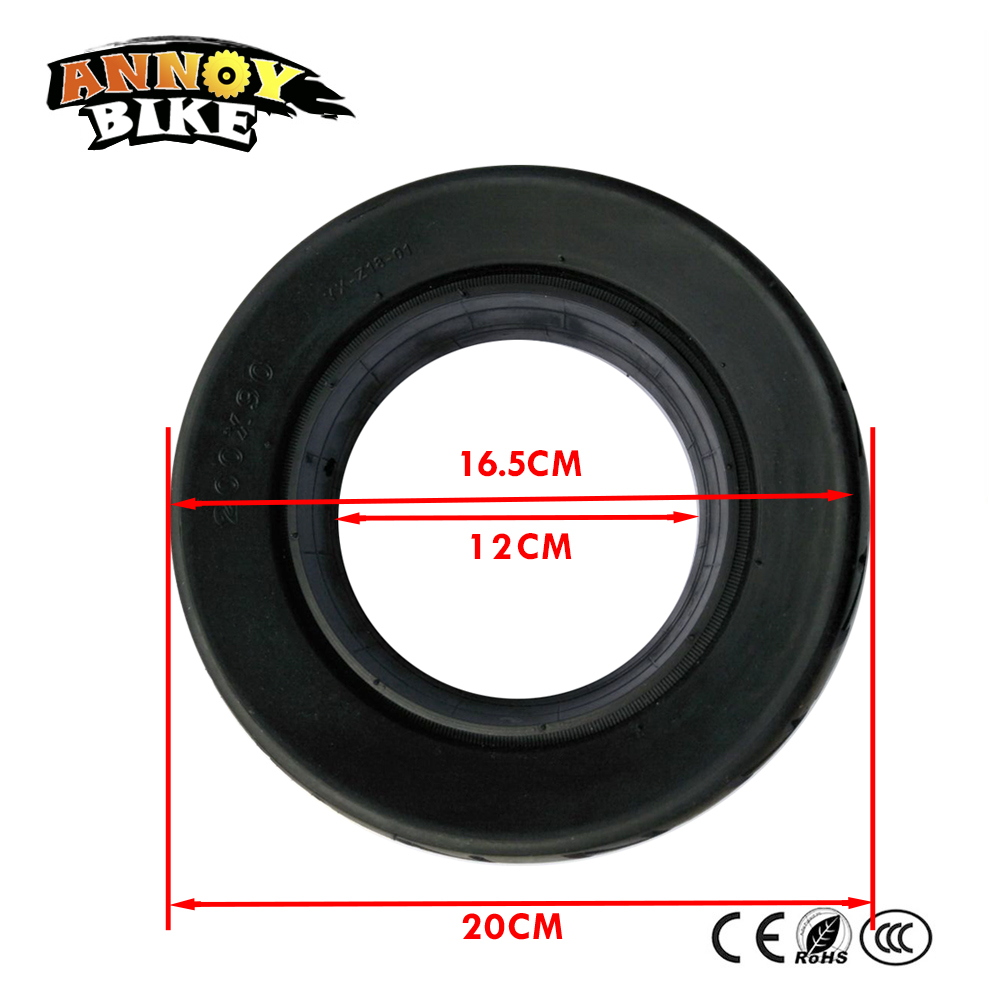 8 inch Solid Tubeless Tire Wheel Tyre 200*90 Scooter Wheel Spare Solid Tire New Pattern Parts Electric Scooter Accessory