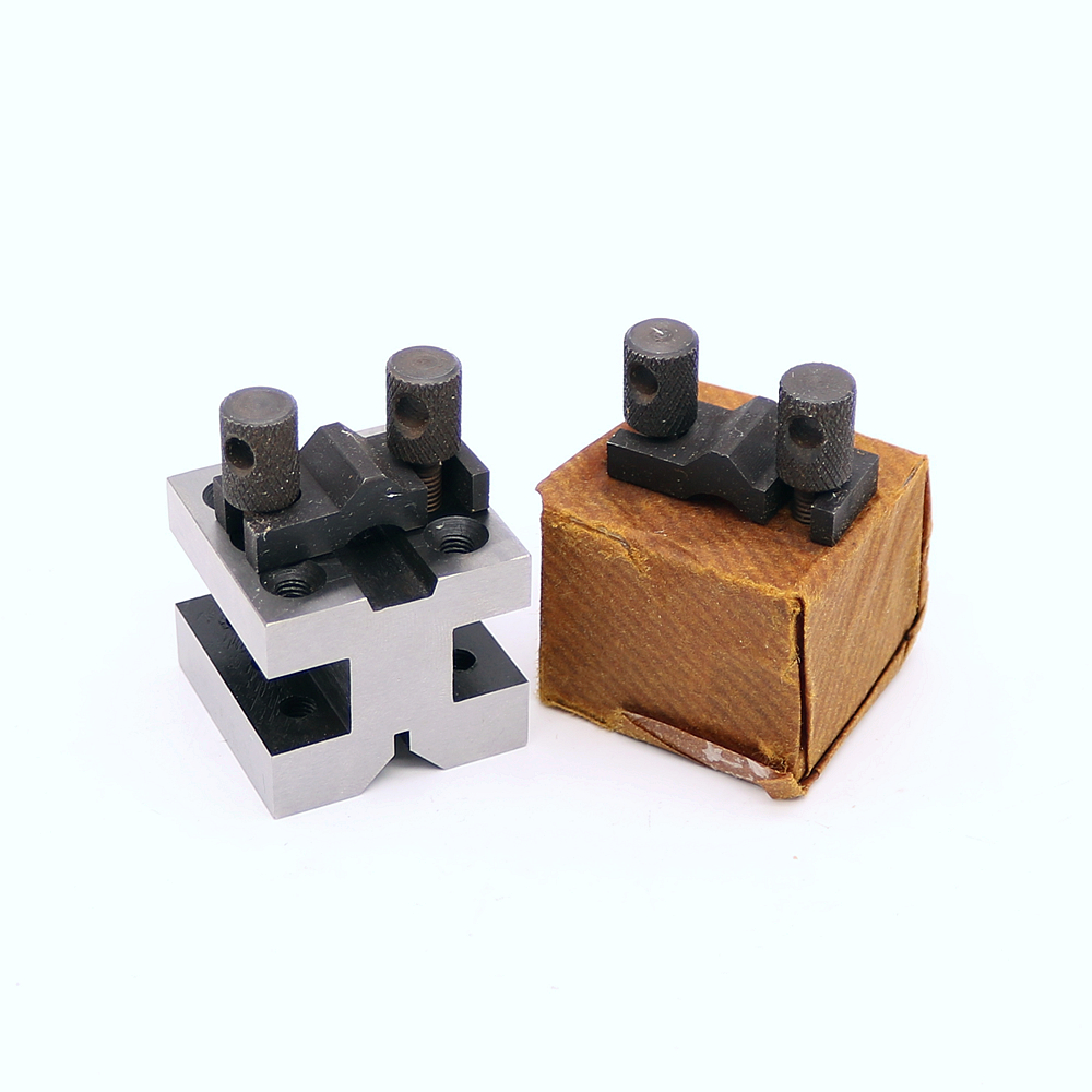 2Pcs 35x35x30mm V blocks Clamping Set Centering Clamping Tools for The Machine