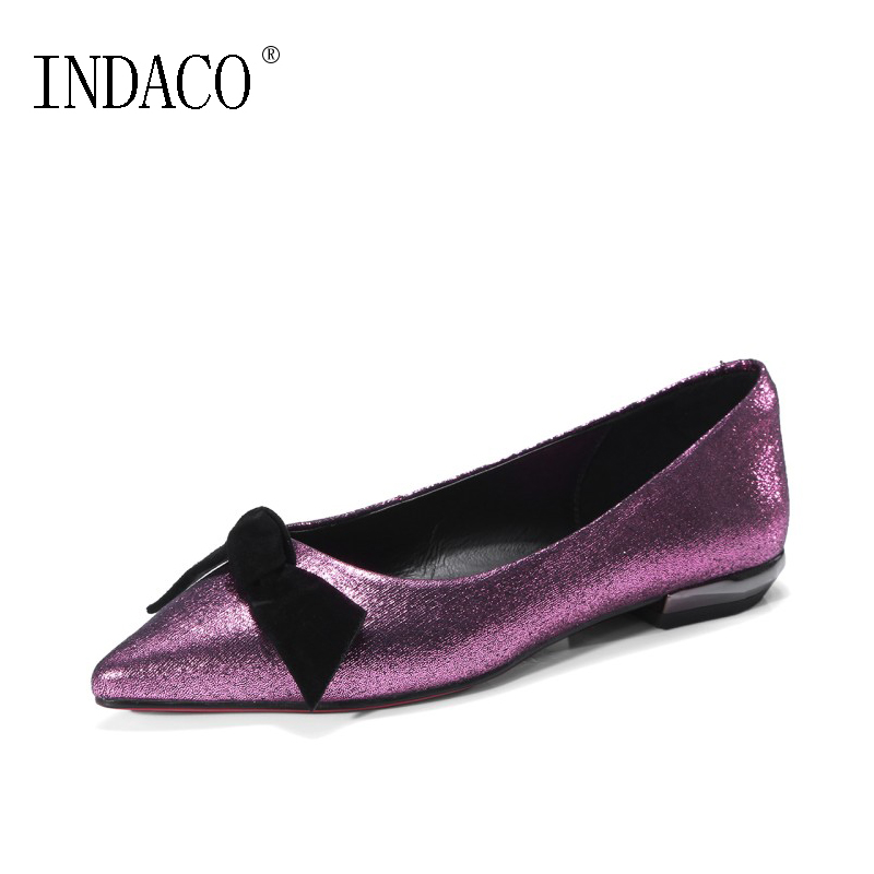 5106b93f7aed New Bling Bling Womens Shoes Flats Fashion Flat Show Bow Women Casual Shoes  Ballerina Flats Comfortable