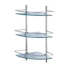 Полочка для ванны угловая WasserKRAFT K-3133 (Металл, хромоникелевое покрытие, уплотнительные пластиковые кольца, закаленное матовое стекло)