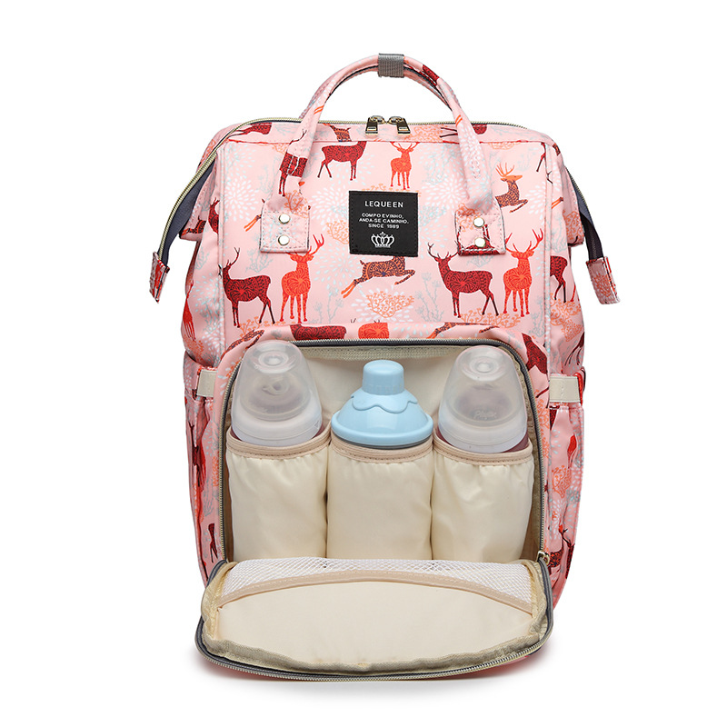 Considerate Mummy Maternity Nappy Bag Fashion Deer Printed Large Capacity Travel Backpack Outdoor Portable Infant Nursing Handbag Mbg0231
