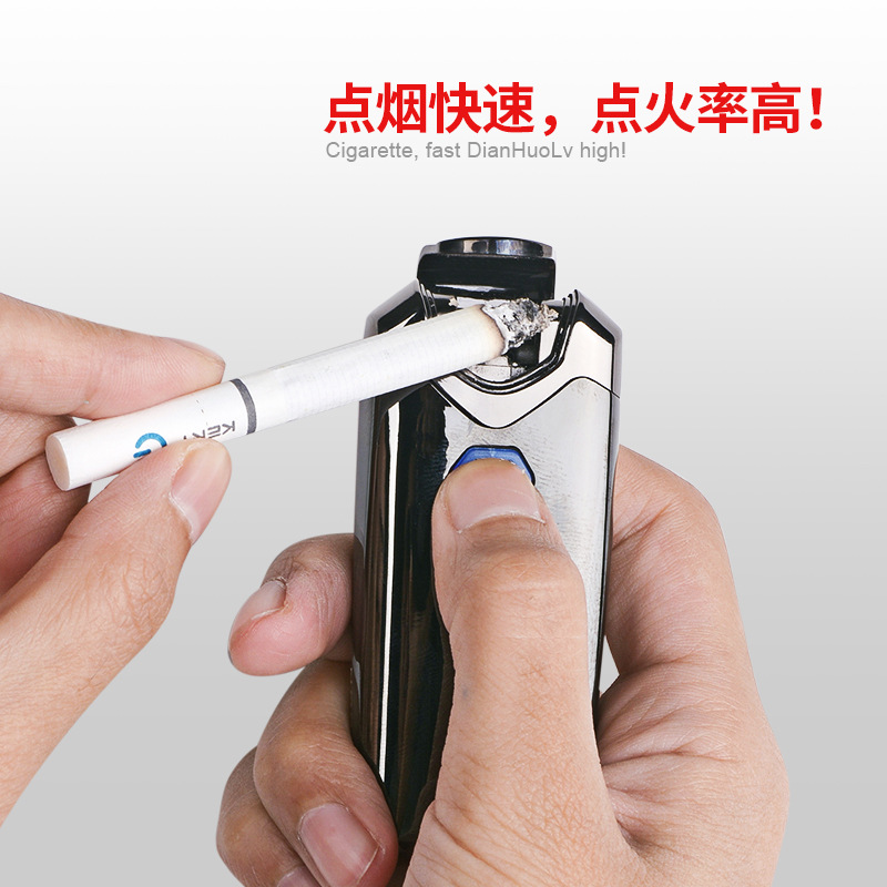 Image 3 - New USB Thunder Lighter Rechargeable Electronic Lighter Cigarette Plasma Double Arc Palse Pulse Windproof Gadgets for Men Gift-in Cigarette Accessories from Home & Garden