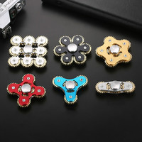 Hand Spinner Metal Gear Linkage High Speed Fingertips Gyro Finger EDC Decompression Toys Finger Gyroscope Kids