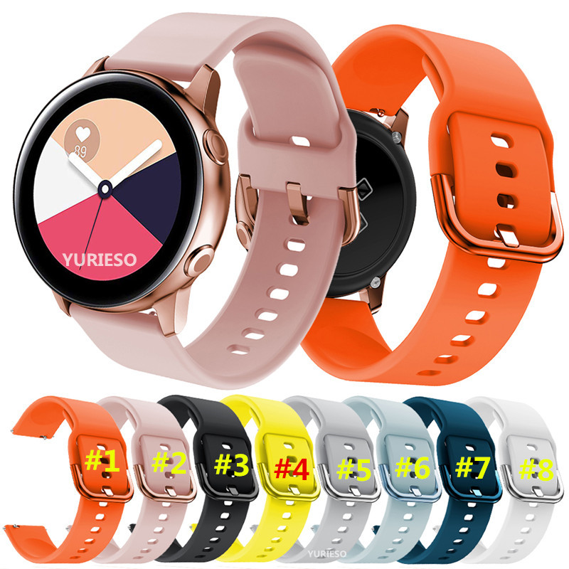 20mm Silicone Watchband for Samsung Galaxy Watch ACTIVE 42mm Striped Replacement Bracelet Band For Huami Amazfit