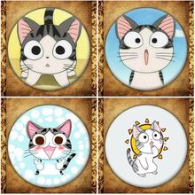 Japanese Anime Chis Sweet Home Display Badge Fashion Cartoon Figure Cat Chi Brooches Pin Jewelry Accessories Gift