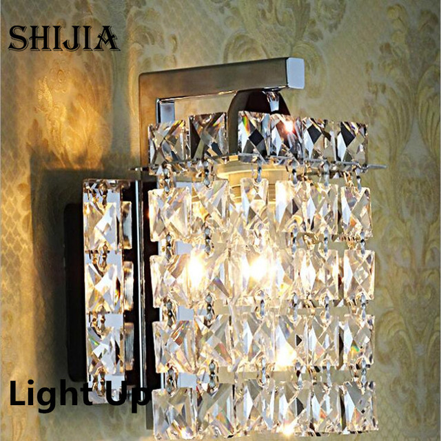 Modern Chinese Styles Crystal LED Wall Lamp For Study Living Room Bed Bar Balcony Aisle