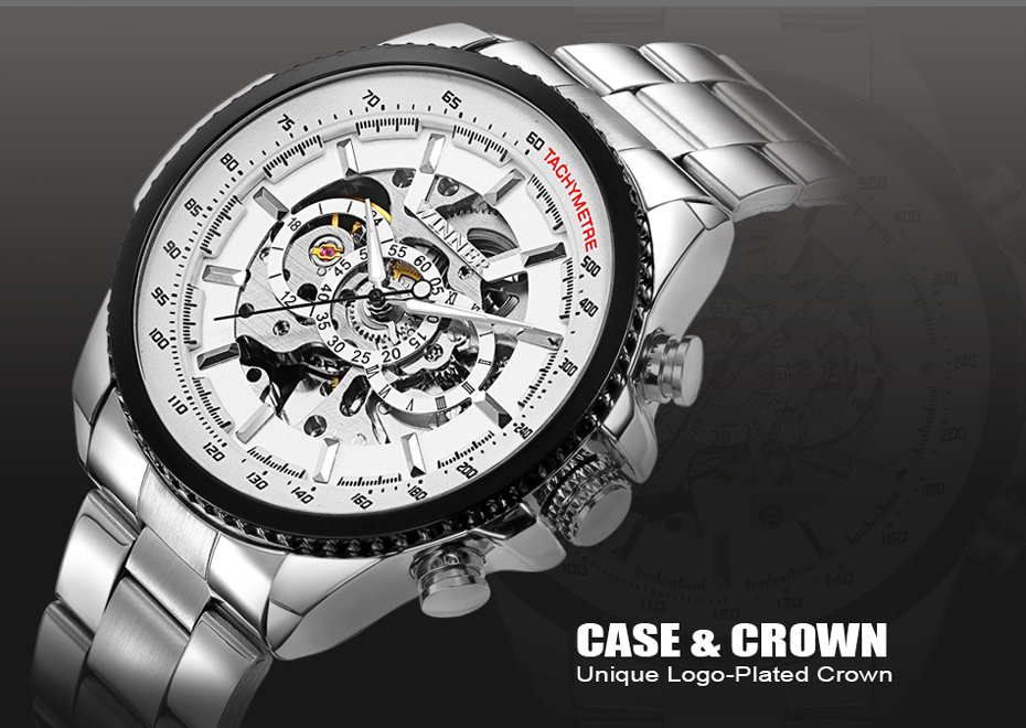 HTB16hwoXKH2gK0jSZJnq6yT1FXaF 2018 WINNER Fashion Design Black mechanical Watch Steel Automatic watch men black stainless steel band business Relogio Male-428