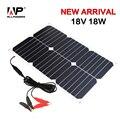 Allpowers portable painel solar 18 v 18 w solar carregador mantenedor da bateria de carro para o automóvel e moto car boat tractor.