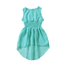 Summer Girl Dresses Long Swallow-tailed Dresses for European and American Babies girls dresses 2018 new european and american style spring pattern solid long sleeves blue girl dresses for 4 16 year ds580