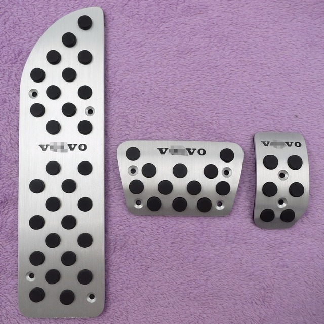 Aluminium Car Accessories For VOLVO S60 XC70 XC60 AT Accelerator Brake Foot Rest Pedal Stickers, Gas Fuel Sport Cover Pads
