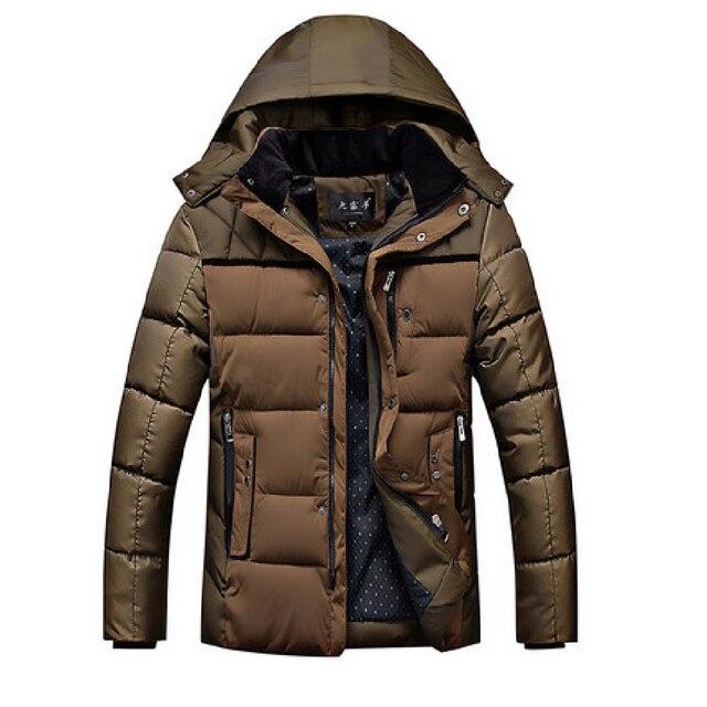 Nova Chegada do Inverno Manter Os Homens Quentes Parkas Casaco de Homem Jaqueta de Patchwork Marca Fino Grosso Com Capuz Casuais Casaco Parkas Outwear Tops