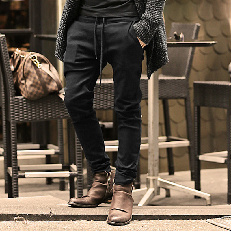 Mens Jeans Stretch coffee Denim Men's Skinny Jeans Slim Fit Jeans 2016 New Arrival High Quality Solid Casual Pants