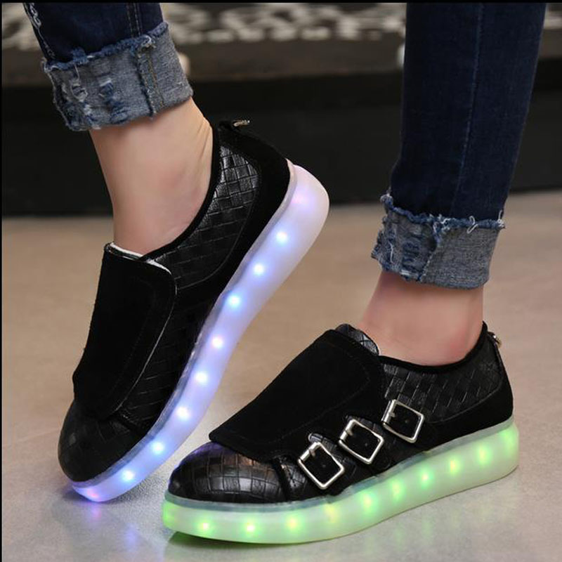 Men's Casual Shoes Shoes Ladies Breathable White Led Shoes Men Casual Glowing Shoes Adults Luminous Sneakers Young Couples Sneakers With Usb Charging