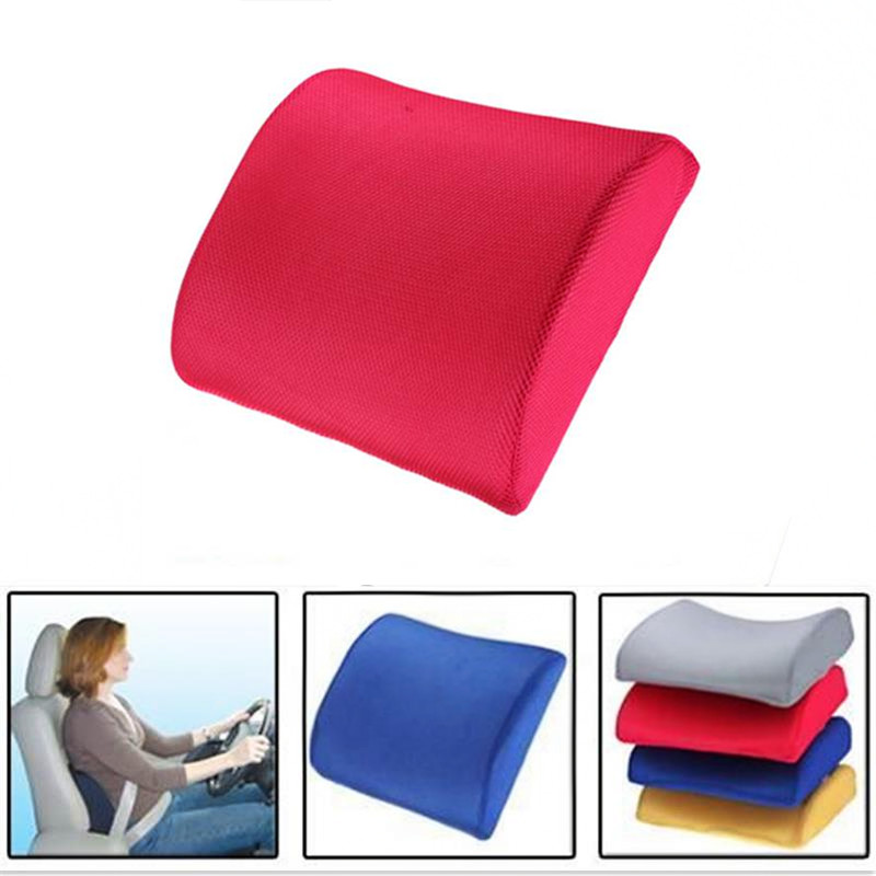 TOYL Memory Foam Lumbar Back Support Cushion Relief Pillow for Office Home Car Auto Travel Booster Seat Chair 4 colors coccyx pillow tailbone pain cushion seat memory foam pillow for pain relief 2018 design car seat cushion office travel