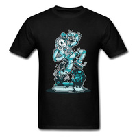 Hipster T Shirt New Space Slim Skull Astronaut Alternative T Shirt Men 100 Combed Cotton T