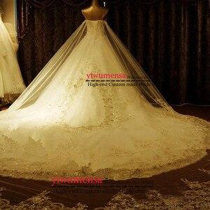 Image 2 - YIWUMENSA Vestidos De Noiva 2021 Sweetheartลูกปัดชุดแต่งงานสำหรับสตรีชุดบอลชุดเจ้าสาวTulleที่ถอดออกได้รถไฟ