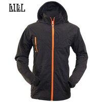 LILL Hi Q Waterproof Man Jacket Hooded Spring Summer Breathable Men S Coat Black Khaki Men