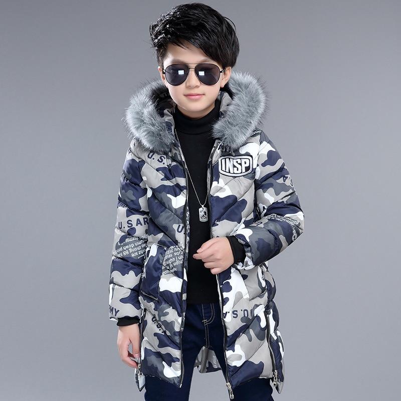 Boys Down Parka Jackets Winter Jacket For Boy Children Windbeaker Parka Coat Russian Snowsuits For Boy Hooded Camouflage Jacket parka miss furs parka