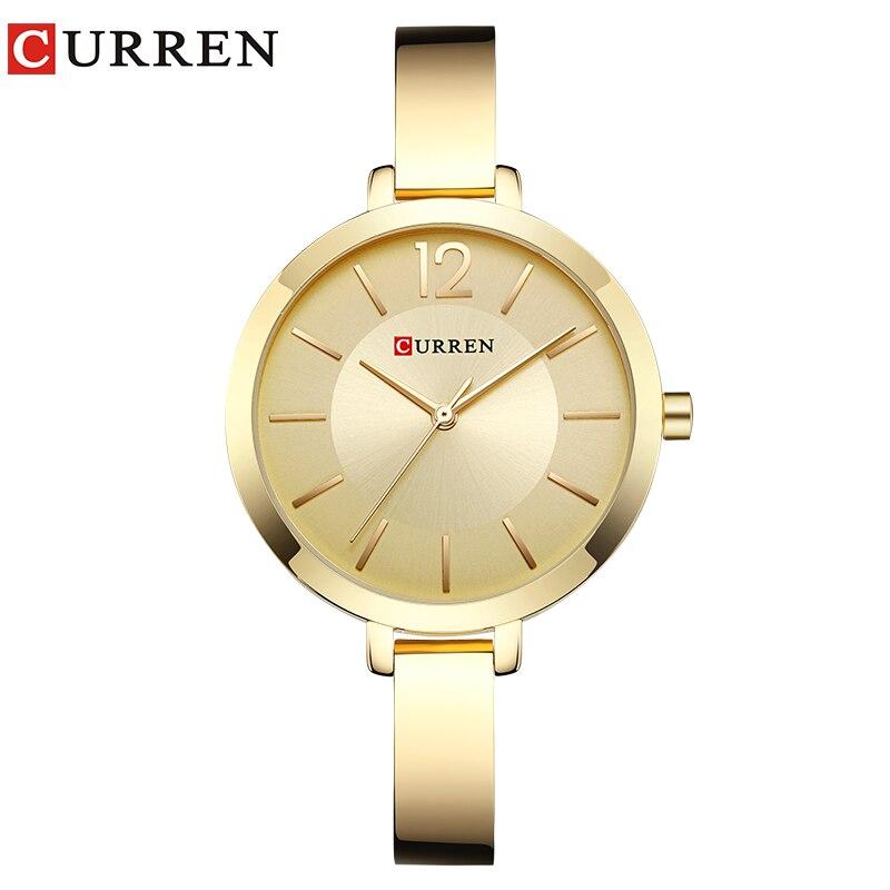 CURREN New 9012 Quartz Women Watches Casual Fashion Ladies Gift Wrist Watch  relogio feminino Наручные часы