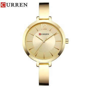 CURREN New 9012 Quartz Women Watches Casual Fashion Ladies Gift Wrist Watch  relogio feminino дамски часовници розово злато