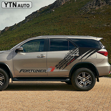 car stickers 2PC 4x4 off toad tire track styling side door graphic vinyls accessories decals custom for toyota FORTUNER