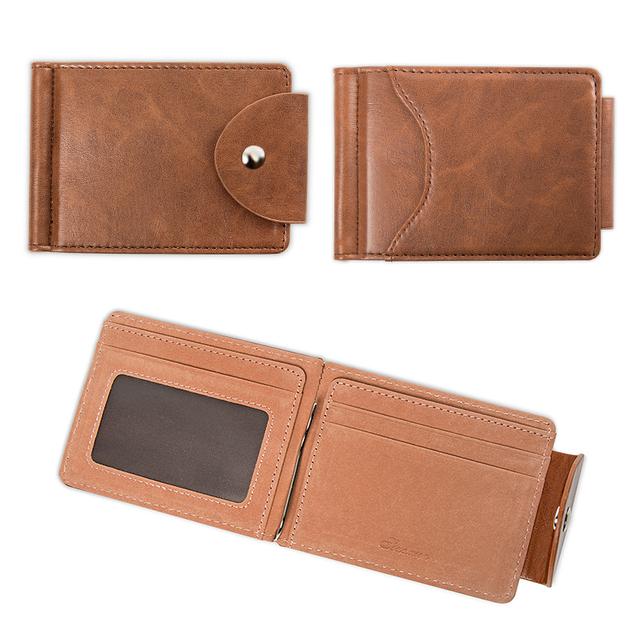 LEFUR Men PU Leather Wallet Card Holder Male Fashion Purse Small Hasp Money Bag Mini Vintage Slim Wallets Clutch Bags carteira