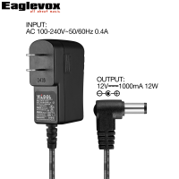 12V 1A Power Adapter Power Supply US Plug Type A Professional Noiseless Technology 100 240V Converter