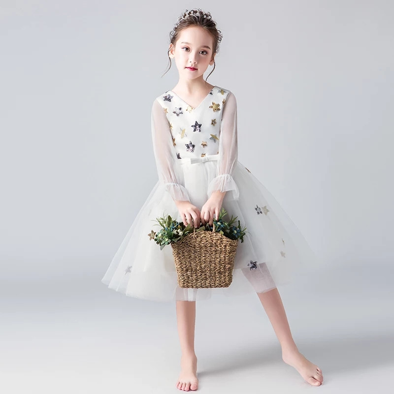 2018New Fashion Childrens Girls Piano Costume Performance Prom Mesh Dress Kids Baby Birthday Wedding Party Evening Formal Dress2018New Fashion Childrens Girls Piano Costume Performance Prom Mesh Dress Kids Baby Birthday Wedding Party Evening Formal Dress