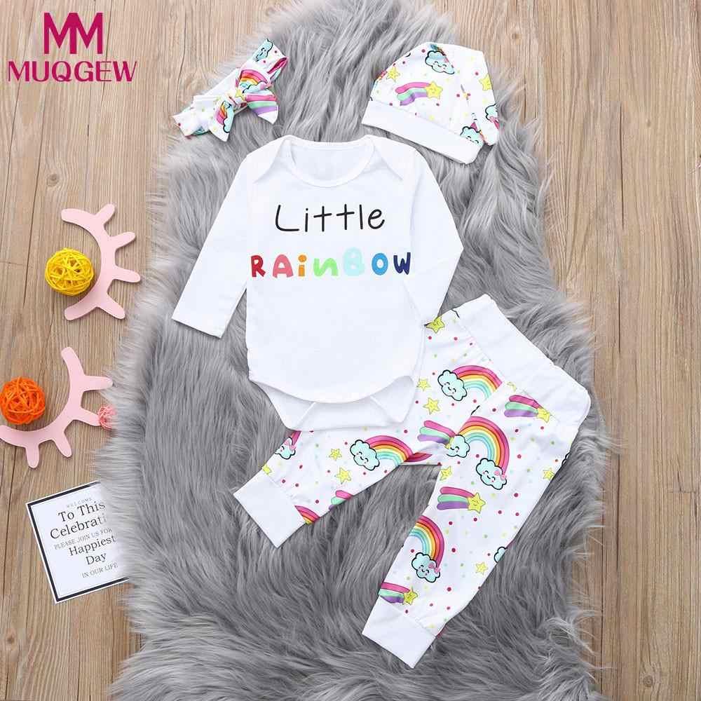 e1c556458 Detail Feedback Questions about MUQGEW Newborn Baby Girl Boy Letter Rainbow  Romper Tops Bodysuit Pants Hat Clothes Set roupas infantis menina on ...