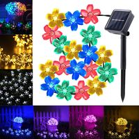 50 Leds Solar String Lights Flowers Blossom Waterproof Outdoor Decoration Lamp For Garden Lawn Christmas Tree
