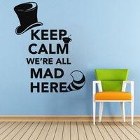 Wall Decals Quote Keep Cheshire Cat Alice In Wonderla Sticker Vinyl Nursery