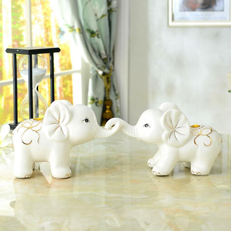 Décorations pour la maison éléphant ornements artisanat salon armoires à vin décoration crafts05184