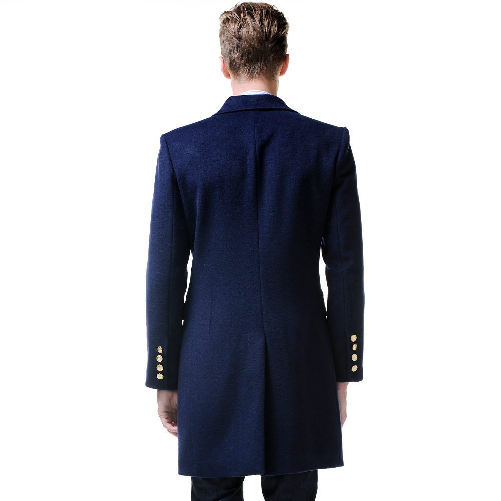 7a809f04220 URSMART 2015 New Listing navy double breasted coat men paragraph wool coat  warm men-in Wool   Blends from Men s Clothing on Aliexpress.com