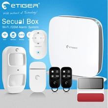 Shipping Free DIY smart home alarm Etiger GSM Alarm Wi-Fi Safety Alarm System with Wi-Fi Power Switch socket