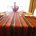 Southeast Thailand style exotic cotton fabric table cloth gift custom