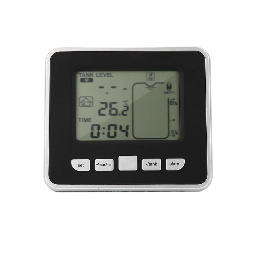 Ультразвуковой беспроводной резервуар для воды, измеритель уровня жидкости, датчик температуры с дисплеем 3,3 дюйма, светодиодный дисплей