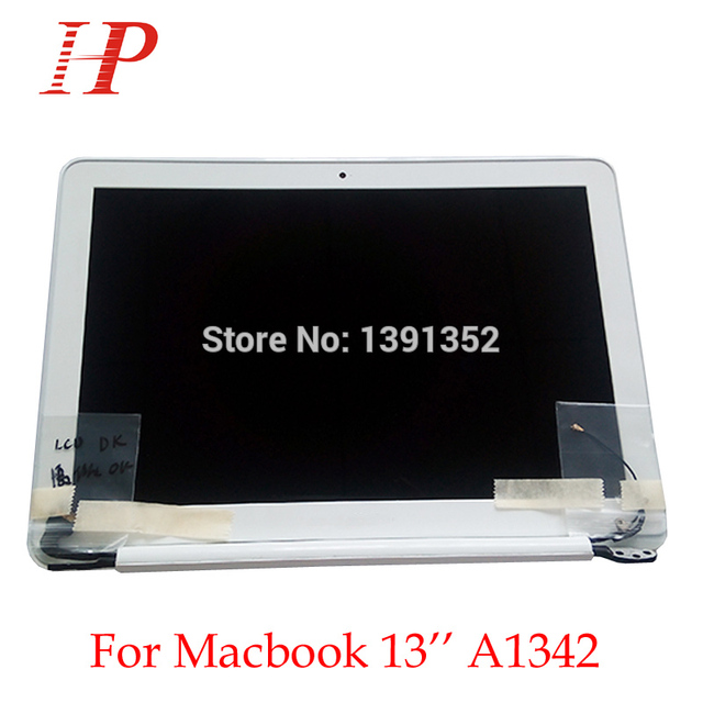 95% nueva pantalla lcd full asamblea para apple macbook a1342 unibody 13 ''pantalla lcd asamblea mc516b/a 2010 reemplazo