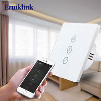 EU UK Standard Wifi Control Curtain Switches Glass Panel Touch Curtain Switch For Electric Curtain Work