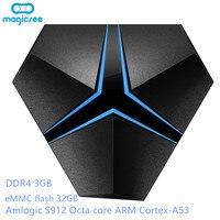 Magicsee Iron Android 7.1 tvbox Amlogic S912 Octa Core 3G 32G TV Box 2.4G/5.8G Wifi Support OTA Update LAN 1000M 4K Media Player