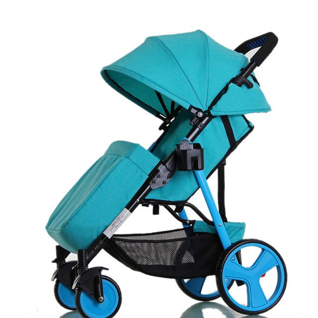 Elegante bolsa de Viagem Carrinho de Bebê Carrinho de Criança Pode Sentar Mentira cadeira de Rodas Dobrável Portátil de Carro Do Bebê Cariage Carrinho Infantil