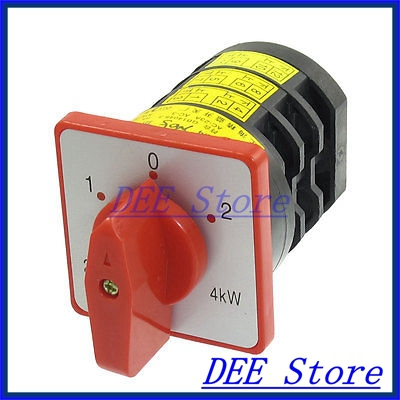 4kW AC 380V 20A 8 Screw Terminal 3 Position Universal Cam Switch 16a 500vac 12 screw terminal 4 positions universal changeover switch