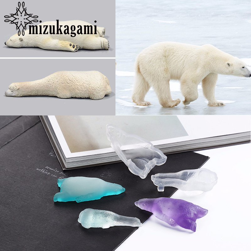 UV Resin Jewelry Liquid Silicone Mold Polar Bear & Alpaca Shape Resin Charms Molds For DIY Intersperse Decorate Making Molds