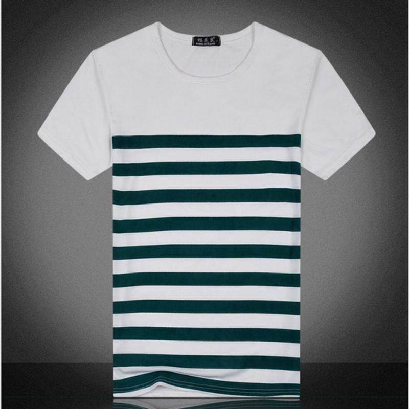 Buy 2016 men short sleeve t shirt striped for Mens short sleeve patterned shirts