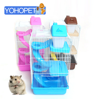 small pet three layers Deluxe plastic hamster cage hamster bed/house cage Animal Guinea Pig cages for hamsters In A House Toy