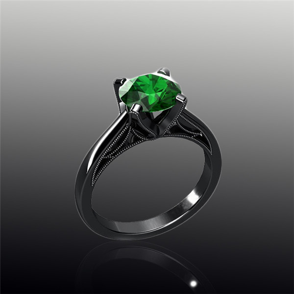 online shop turkish wedding couple jewelry ring green black gold filled maxi rings jewelry fashion rings for women 2017 aliexpress mobile - Turkish Wedding Ring