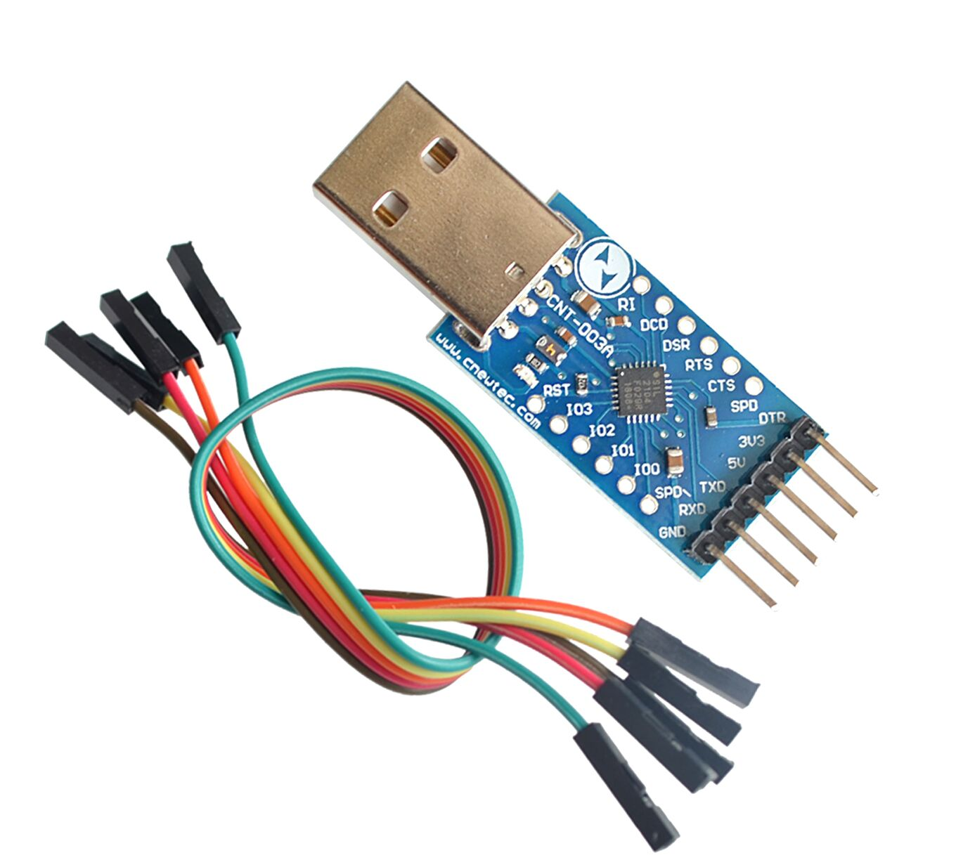 USB 2.0 to TTL UART 6PIN Module Serial Converter CP2104 STC PRGMR Replace CP2102 With Dupont CablesUSB 2.0 to TTL UART 6PIN Module Serial Converter CP2104 STC PRGMR Replace CP2102 With Dupont Cables