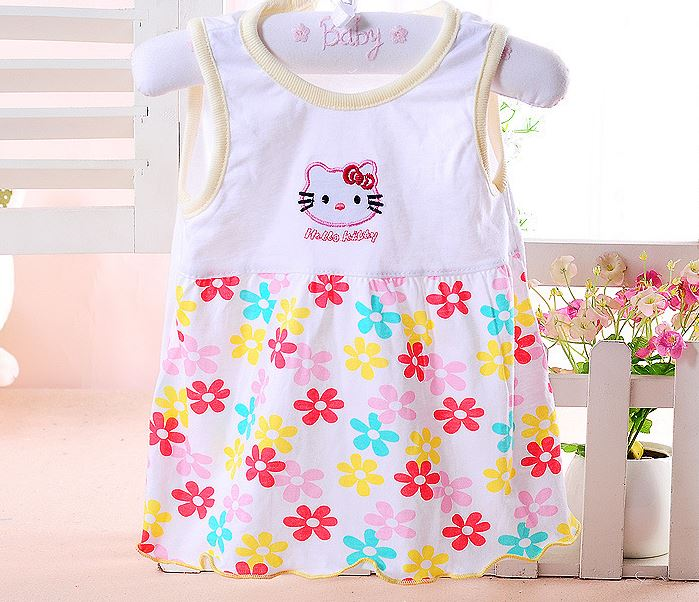 Free shipping! Baby brand Dresses baby girl dress Sleeveless Princess Girls Dress Cotton Clothing Dress Summer Clothes For Girl