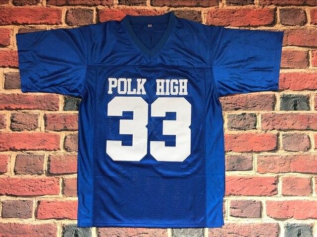Al Bundy  33 Polk High Football Jersey Married Shirt Bloods Thicker  Stitched Sewn BLUE S-3XL c9b4c4b9bacf
